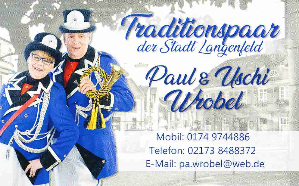 Traditionspaar Paul & Uschi Wrobel